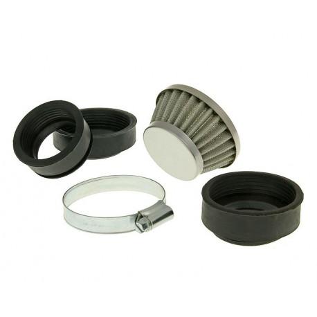 Zračni filter Powerfilter Shorty 44-58mm - CROME / Dellorto 14/9 -12/14 -14/12 -15/15 -16/16