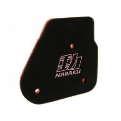 Pena zračnega filtra Naraku Double Layer -Minarelli Horizontal - Yamaha Aerox -Malaguti F12-Aprilia SR