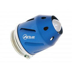 Air filter Grenade blue straight version 42mm carb connection