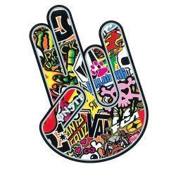 Fingers sticker