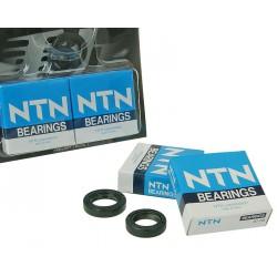 Set oljnih tesnil + ležajev -  Naraku heavy duty - NTN C3- Peugeot -Horizontal