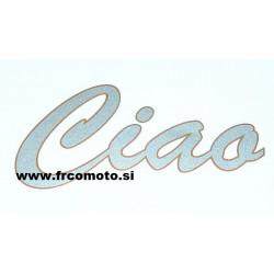 Nalepka CIAO -Sivo-Oranžna 110X50MM