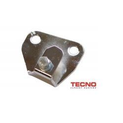 Exhaust fixationplate Tomos Euro2 chrome