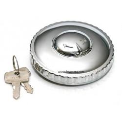 Reservoir cap with key