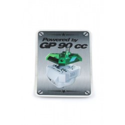 Nalepka -MXS Racing GP90 Power 38x55mm chrome