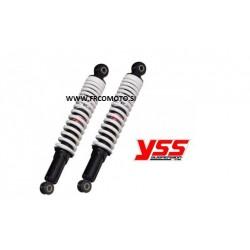 Zadnij amortizer (2 kosa) YSS Hydraulic 340mm - Black/White -Malaguti 125 , Kymxo Dink , Aprilia Leonardo 250