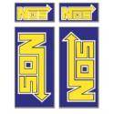Naljepnice NOS 10x12 set