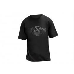 T-shirt Men Akrapovic Custom Iron Black