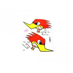 Naljepnica Woodpecker With Cigar (14x16 Cm)