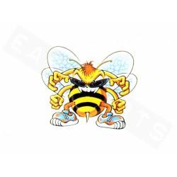 Nalepka Angry Bee (10x8 Cm)