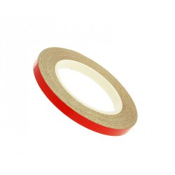 reflective wheel / rim stripe 5mm in width - red - 600cm in length