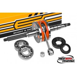 Crankshaft Tec Racing Set -Minarelli Horizontal -Aerox, Amico , SR, Jog