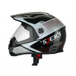 Helmet Speeds Cross X-Street Graphic -  red size S