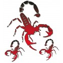 Nalepka Scorpione 10 x 12cm