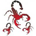 Sticker Scorpione 10 x 12cm