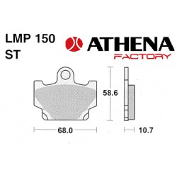 Kočne pločice Athena -AP Racing - Made in USA - Yamaha DT 80 / XJ / XV / XZ