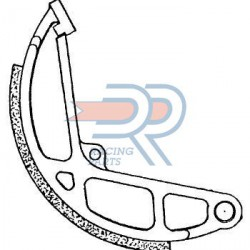 Brake shoes - D.R- 135X18 -Piaggio Ciao -2 pieces