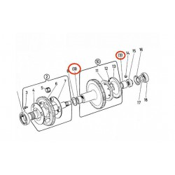 Gear axle bearing  internally Puch ZA50