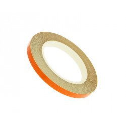 reflective wheel / rim stripe 5mm in width - orange - 600cm in length