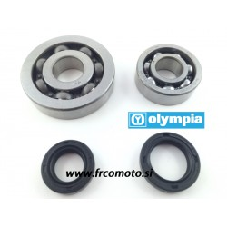 Crankshaft bearing kit + oil seals-Olympia- Piaggio Hyper 4T- 50cc(do 2005)