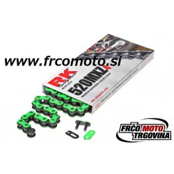 Chain RK 520 MXZ4 120členov - Zelena Neon