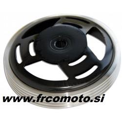 Clutch bell -Silver ring Ø 107 - Piaggio / Peugeot /Honda/Italjet/Derbi