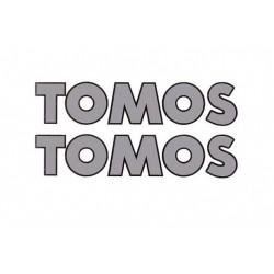 Sticker  Tomos Silver - Black  150 x 31mm