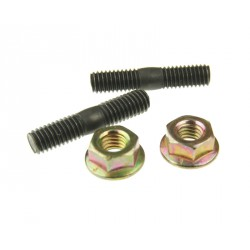 exhaust stud bolt set incl. nuts - M6 x M6