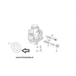 Priključek karburatora -zrak -Aprilia RS 125 ( Rotax )1999-2005