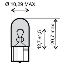 Žarnica - 12V 5W, R5W BA15S white