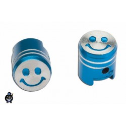 Decorative cap Valves Piston smile Blue