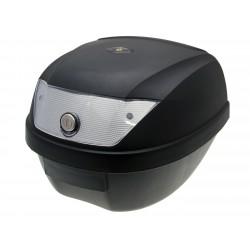 Kofer Top Case crni - sa bravicom i 2 ključa, prozirna leća - 28L kapacitet