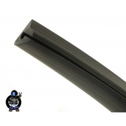 Rubber strip side panel Black for VESPA PX , PXE , T5 - RMS