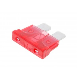 blade fuse flat 19.2mm 10A red in color