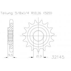 Prednji lančanik ESJOT CNC HONDA CR/CRF -250cc /450cc 14zob